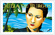 Julia de Burgos Literary Arts Stamp